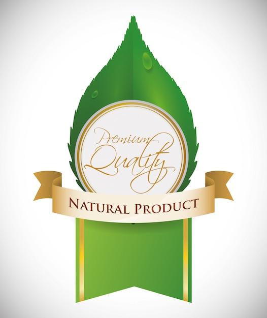 Diseño de producto natural Vector Premium