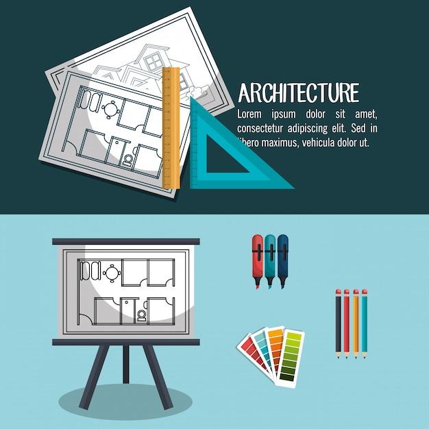 Diseño de proyectos de arquitectura vector gratuito
