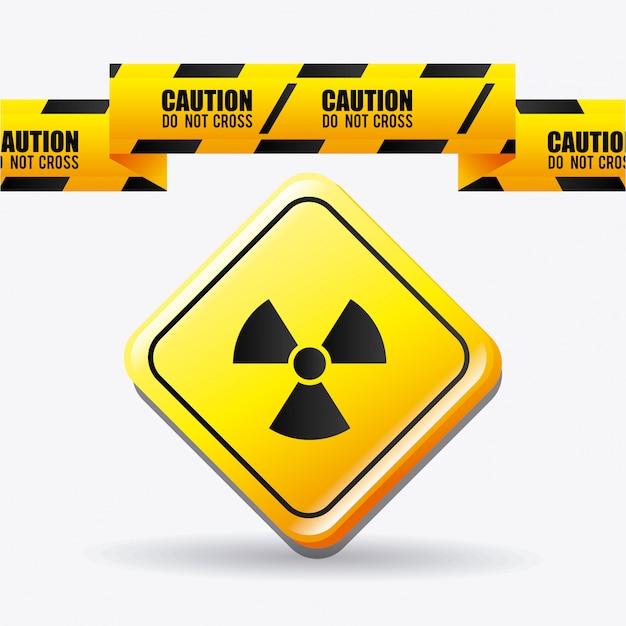 Diseño publicitario de peligro. vector gratuito