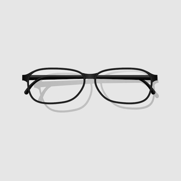 Diseño realista de anteojos Vector Premium