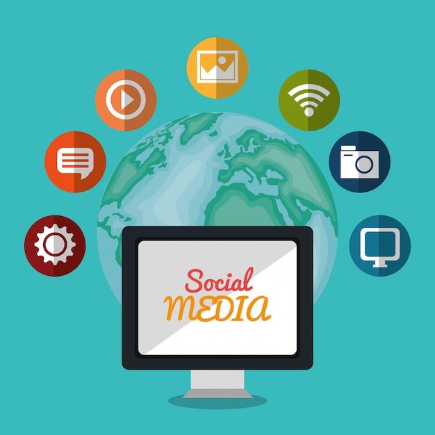 Diseño de redes sociales vector gratuito