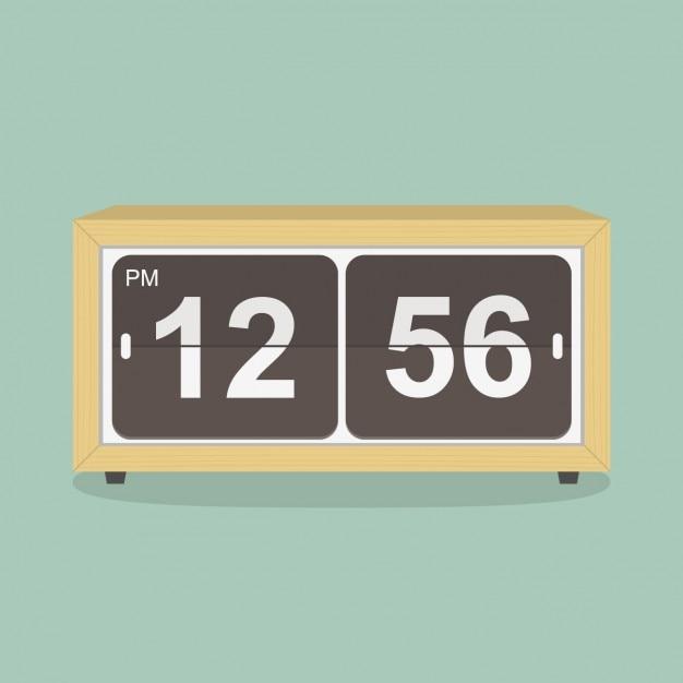Diseño de reloj retro vector gratuito