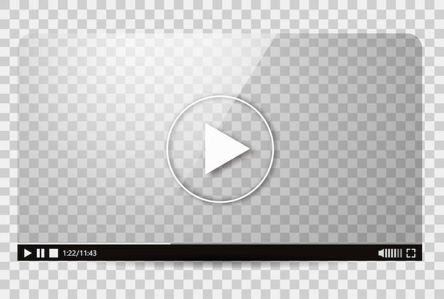 Diseño del reproductor de video. vector gratuito