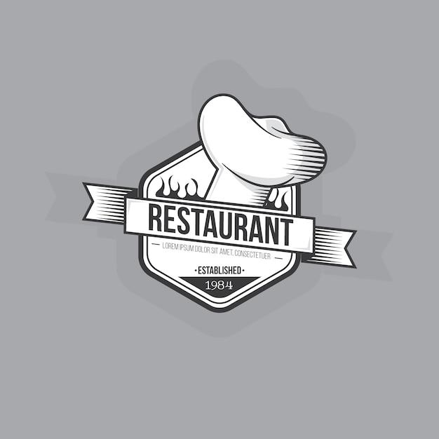 Diseño retro del logo del restaurante vector gratuito