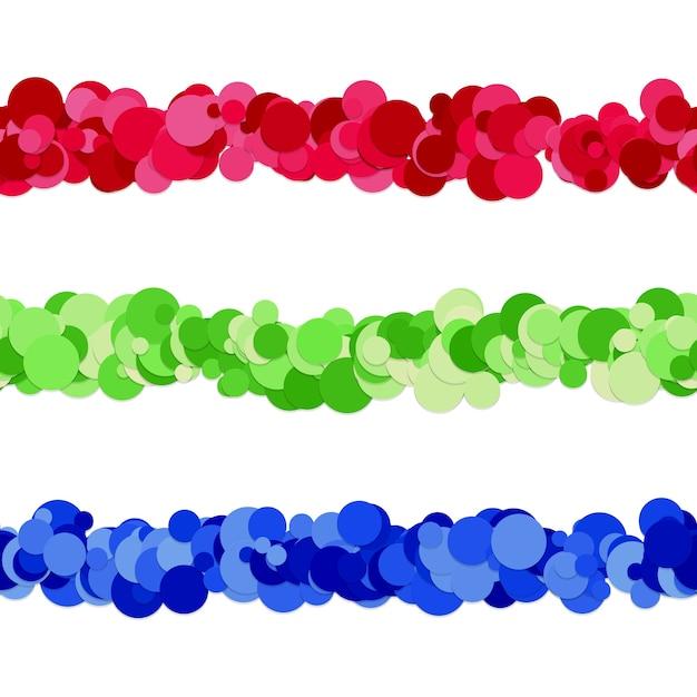 Diseño de separador de línea de patrón de puntos de círculos de color vector gratuito