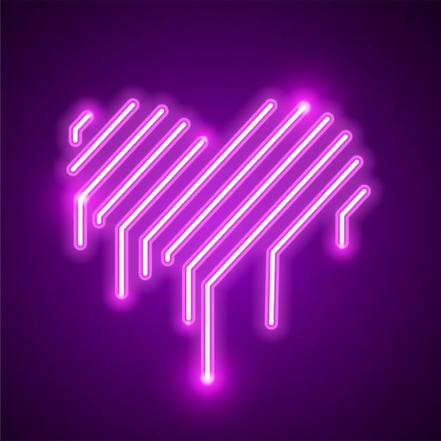 Diseño de signo de amor Vector Premium