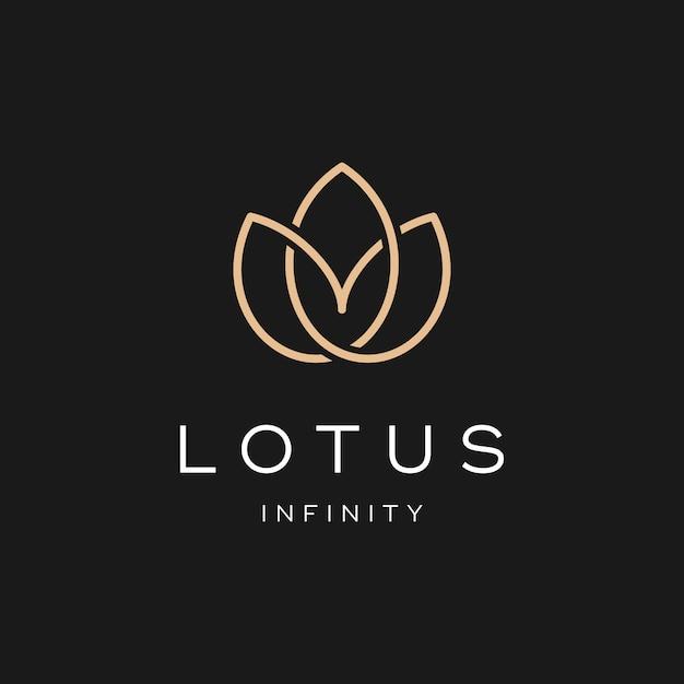 Diseño simple del logotipo de lotus Vector Premium