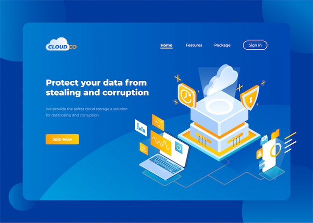 Diseño de sitio web para empresas Vector Premium