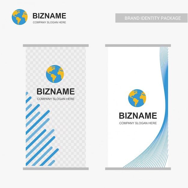 Diseño standee de negocios vector gratuito