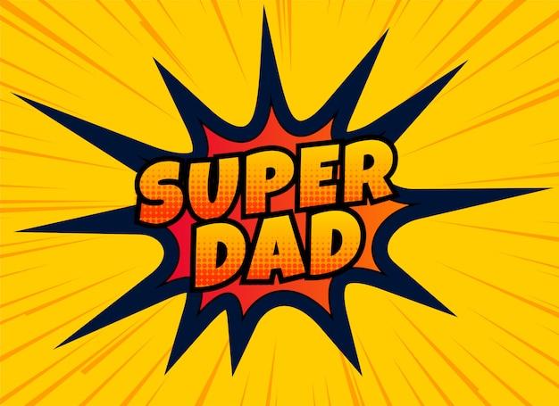 Diseño de super papá para el día de padres felices vector gratuito
