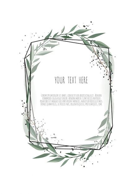 Diseño de tarjeta botánica floral vector Vector Premium