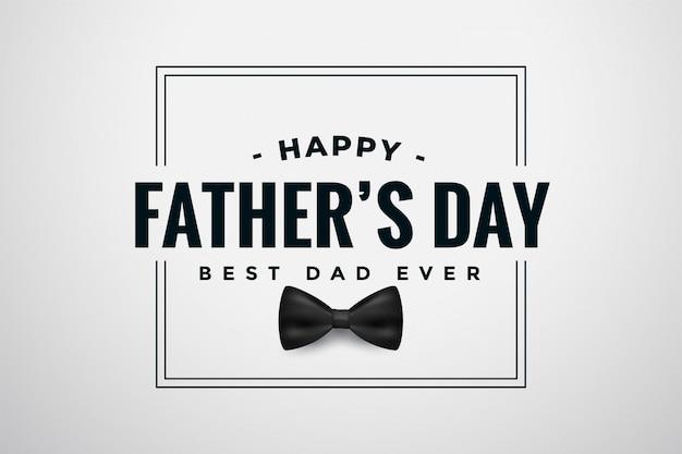 Diseño de tarjeta elegante de feliz día del padre con arco vector gratuito