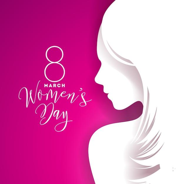 Diseño De Tarjeta De Felicitación Feliz Día De Las Mujeres Con