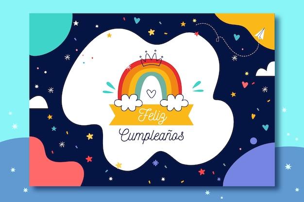 Diseño de tarjeta de feliz cumpleaños vector gratuito
