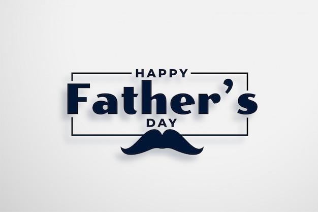 Diseño de tarjeta de feliz día del padre en estilo elegante vector gratuito