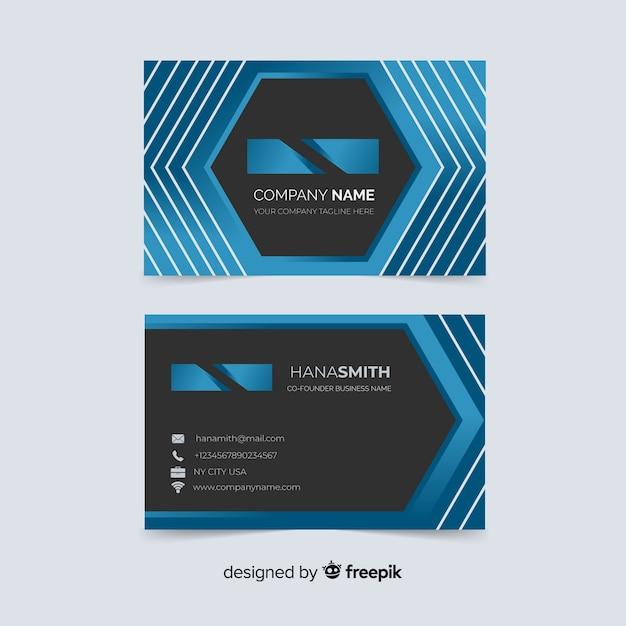 Diseño de tarjeta de presentación abstracta vector gratuito
