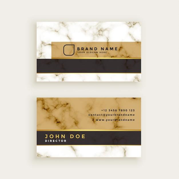 Diseño de tarjeta de visita de textura de mármol creativo vector gratuito