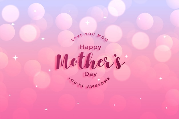 Diseño de tarjetas de felicitación del feliz día de la madre. vector gratuito