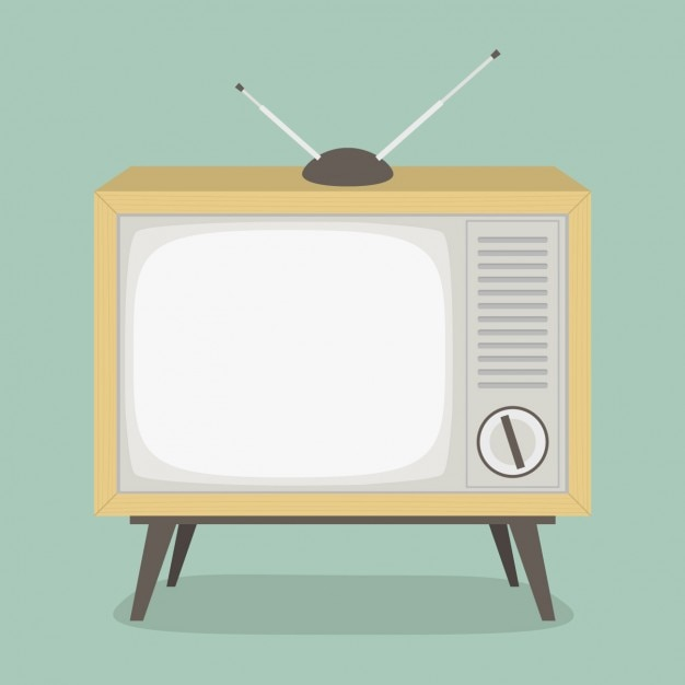 Diseño de televisión vintage vector gratuito