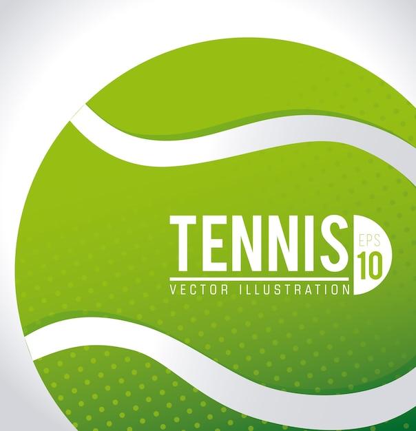 Diseño de tenis, ilustración vectorial. Vector Premium