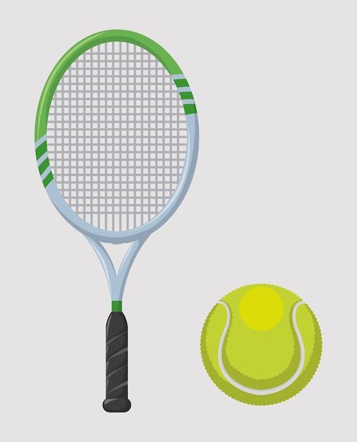 Diseño de tenis sobre fondo gris ilustración vectorial Vector Premium
