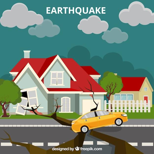 Diseño de terremoto vector gratuito