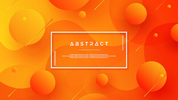 Diseño texturizado naranja del fondo en el estilo 3d. Vector Premium