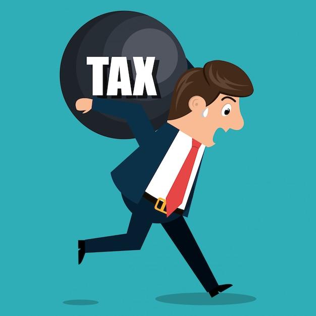 Diseño de tiempo de impuestos Vector Premium
