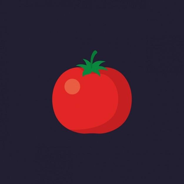 Diseño de tomate a color vector gratuito