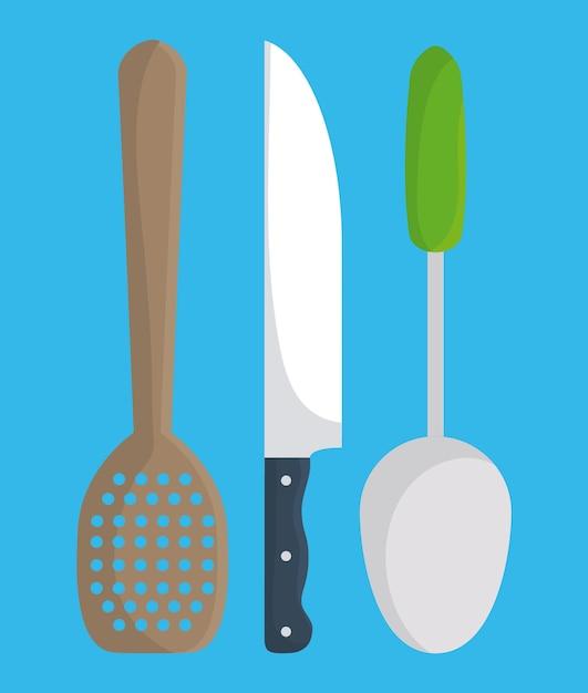 Diseño de utensilios de cocina | Descargar Vectores Premium