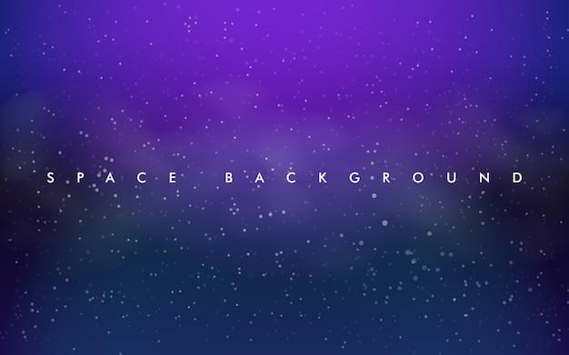 Diseño de vector púrpura claro, rosa con estrellas cósmicas. Vector Premium