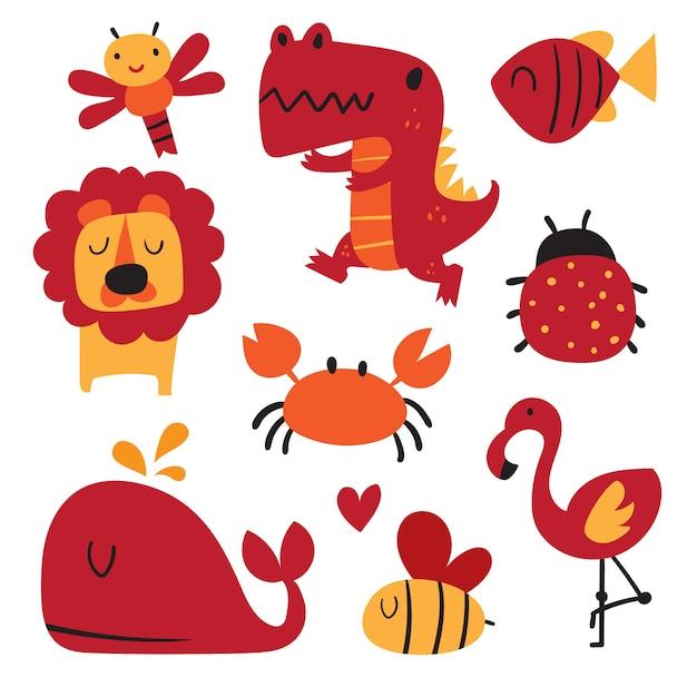 Diseño vectorial alfabeto para niños, diseño vectorial fuente para niños Vector Premium
