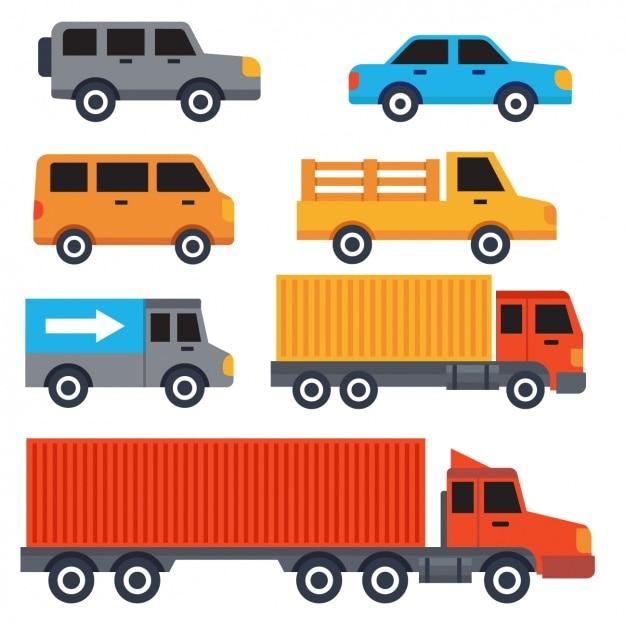Diseño de vehículos de transporte vector gratuito