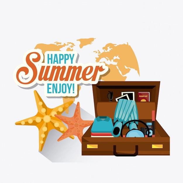 Diseño de verano vector gratuito