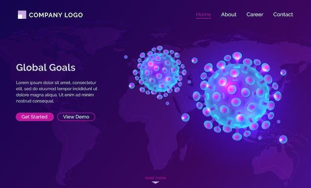Diseño web isométrico de la pandemia de coronavirus covid 19 vector gratuito