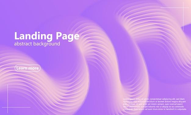 Diseño web de página de aterrizaje con diseño abstracto Vector Premium