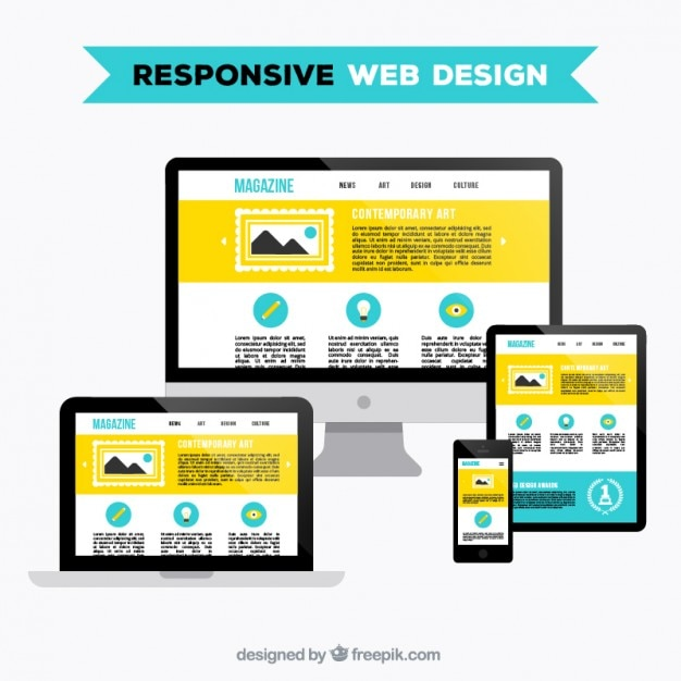 Diseño web responsive | Descargar Vectores gratis