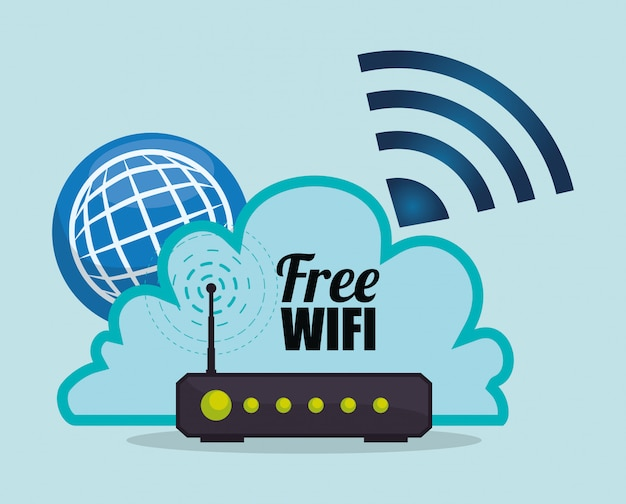 Diseño wifi Vector Premium