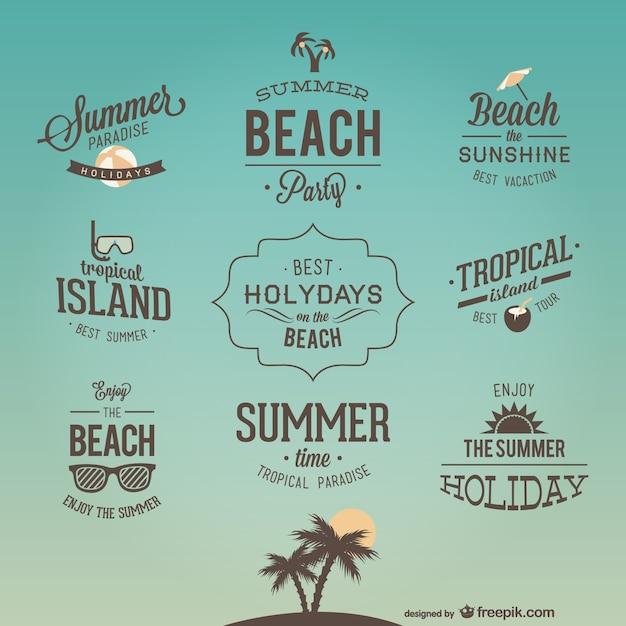 Diseños de logos de vacaciones retro | Descargar Vectores ...