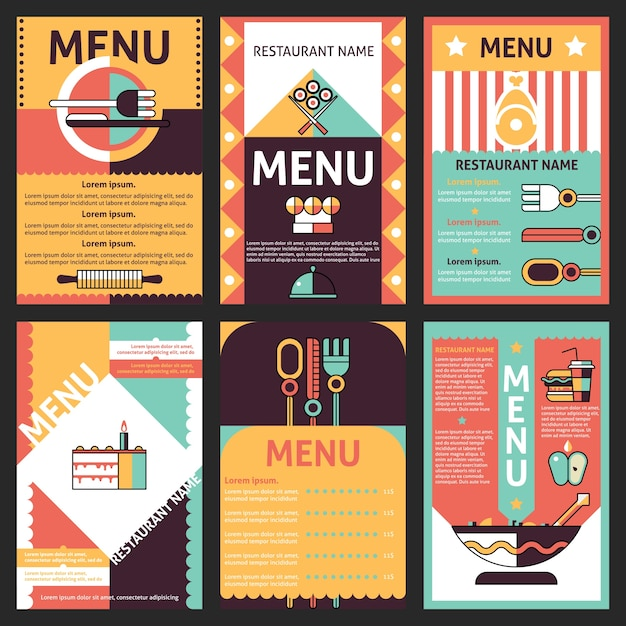 Dise os de men de restaurante descargar vectores gratis for Disenos de menus para cafeterias