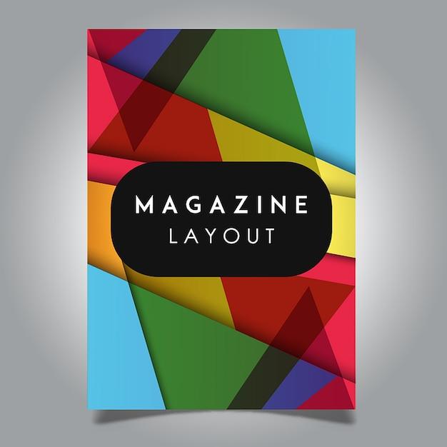 Diseños de plantillas de diseño abstracto de la revista Vector Vector Gratis