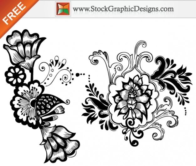 Disenos De Flores Hermosas Gratis Vectoriales Descargar Vectores