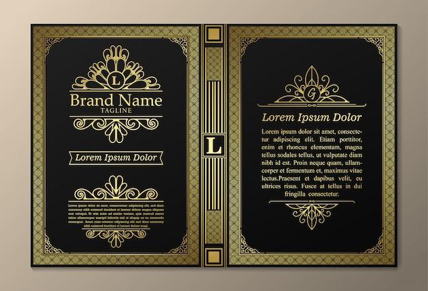 Diseños de libros vintage de diseño creativo Vector Premium