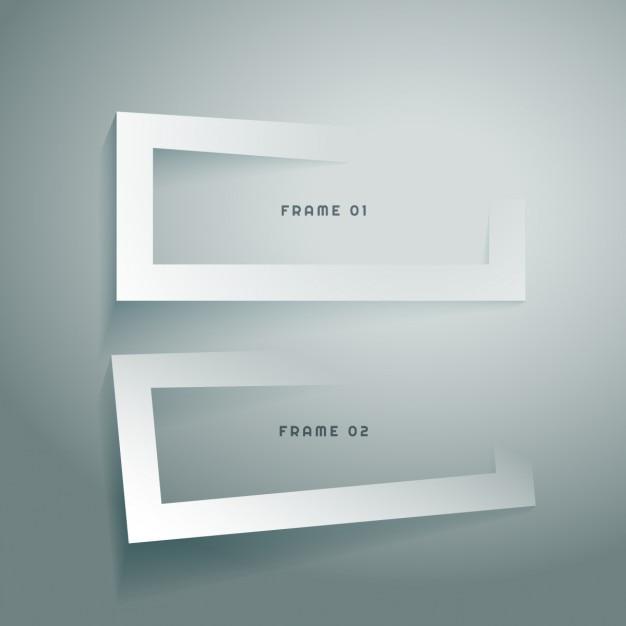 Diseños marco 3d | Descargar Vectores gratis