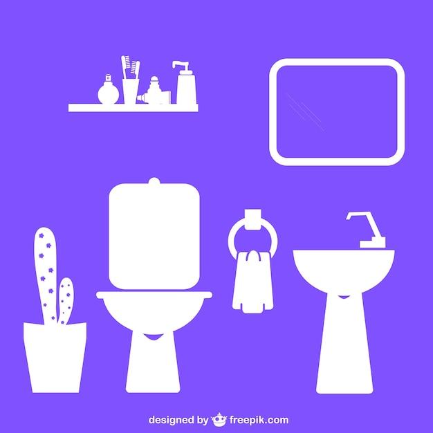 Diseños planos de baño   Vector Gratis