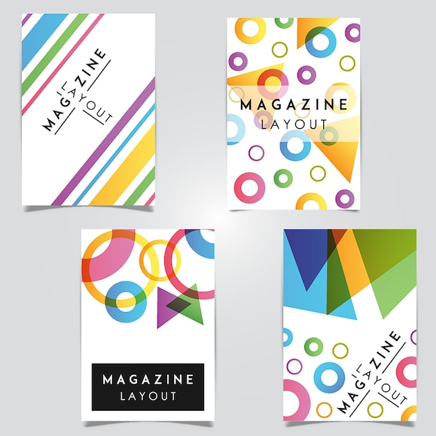 Diseños de plantillas de diseño abstracto de la revista vector vector gratuito