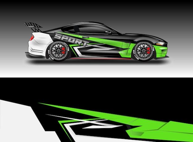 Diseños vectoriales de calcomanía de coche Vector Premium
