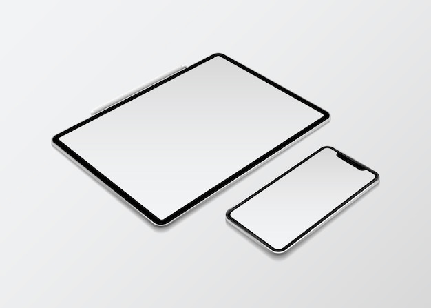 Dispositivo de maqueta de dispositivo digital vector gratuito