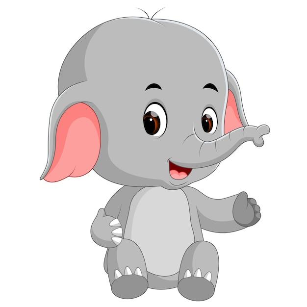Divertido elefante beb dibujos animados descargar - Fotos de elefantes bebes ...