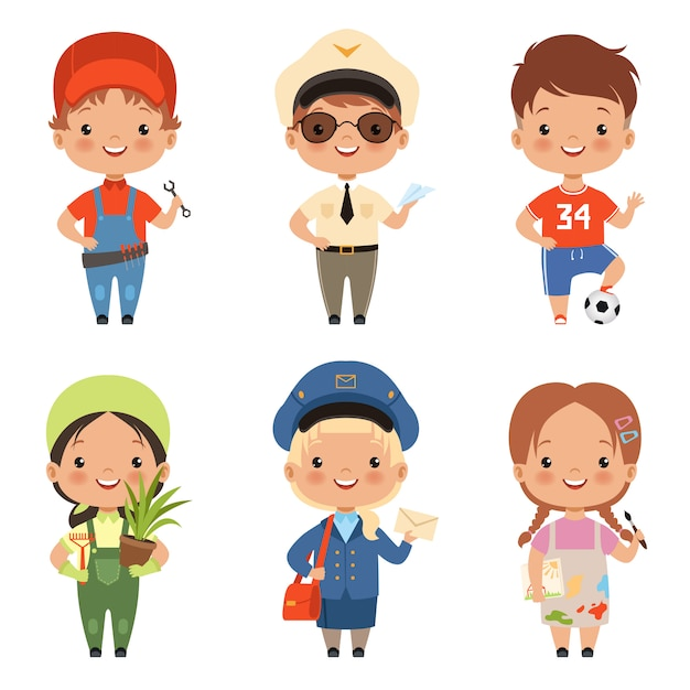 Divertidos Personajes Infantiles De Dibujos Animados De